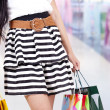 Stockfoto: Woman with shopping bag