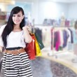 Casual beautiful woman with shopping bags — Stock Photo #10504282