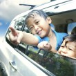 Asian Kids on a Road Trip — Stock Photo