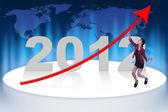 Profitable business year — Stock Photo