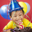 Boy celebrating birthday — Stock Photo