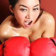 Sexy woman boxer — Stock Photo