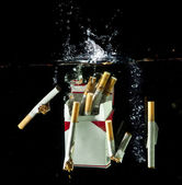 Cgarets splash — Foto Stock