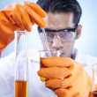 Mixing chemical in laboratory — Stock Photo #8982650