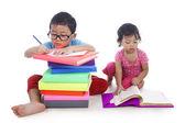 Kids studying — Stock Photo