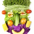 Stockfoto: Face made of fruits and vegetables