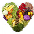Fruit and vegetable heart — Stock Photo