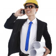Architect talking on the phone — Stock Photo