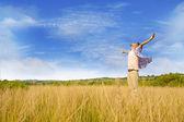 Man dyrka gud — Stockfoto