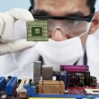 Chip of motherboard — Stock Photo #9402025