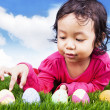 Learn to count easter eggs — Stock Photo