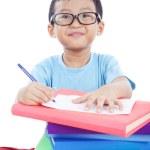 Smart Asian Boy Studying — Stock Photo