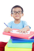 Smart Asian Boy Studying — Stock Photo