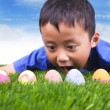 Easter egg hunt — Stock fotografie