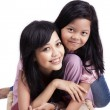 Happy mother and daughter posing — Foto Stock