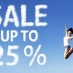 25 Percent Sale Poster — Stock Photo