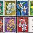 Flowers, series plants, postage stamp - Foto Stock