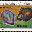Pearl from Japan. Vietnam postage stamp — Stock fotografie #10044305