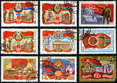 60 years of Soviet Socialist Republics. Postage stamp — Stock Photo