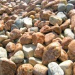 Sea ​​pebbles, texture — Stock Photo