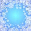 Snowflakes on blue background — Stock Vector