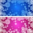 Color christmas banners with snowflakes — Stock Vector #8037739
