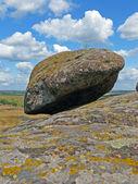 Bergslandskap, stenblock — Stockfoto