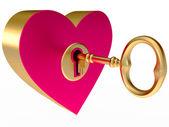 Key from the heart — Stock Photo