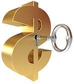 Chave do dólar — Fotografia Stock