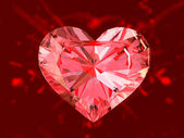 The red ruby heart — 图库照片