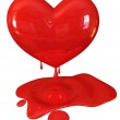 Red melting heart — Stock Photo #9349660