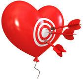 Balloon in heart shape — Stock Photo