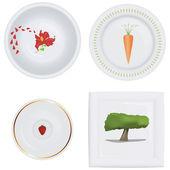 Plates set — Stock Vector
