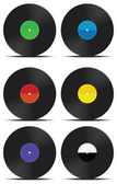 Vinyl records set — Stock Vector