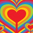 Abstract heart background — Imagen vectorial