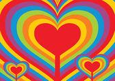 Sfondo astratto cuore — Vettoriale Stock