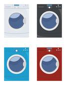 Washing machine set — Stock Vector