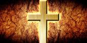 świecące krzyża na tle nieczysty — Zdjęcie stockowe