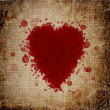 Heart made of blood drops — Stock Photo