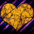 Grunge heart background — Stock Photo