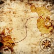 Stock Photo: Old treasure map