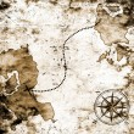 Old treasure map — Stock Photo #10177698