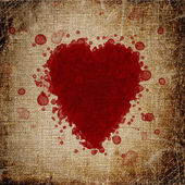 Heart made of blood drops — Stockfoto