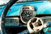 View of the interior of an old vintage car — Stock Photo
