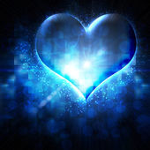 Abstract heart on a blue background — 图库照片
