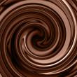 Chocolate swirl background — Stock Photo