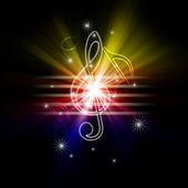 Glowing musical symbols — Stock Photo