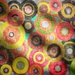 Stock Photo: Fabric with circles and folds