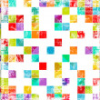 Worn out background with squares — Stock Photo