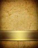 Soft golden brown parchment background with ribbon — Stock Photo